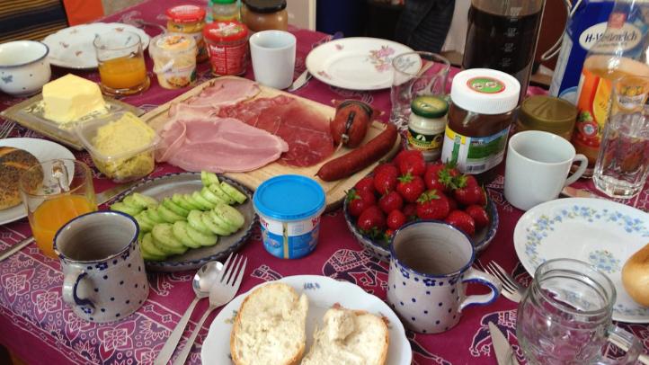 massiv tysk frukost